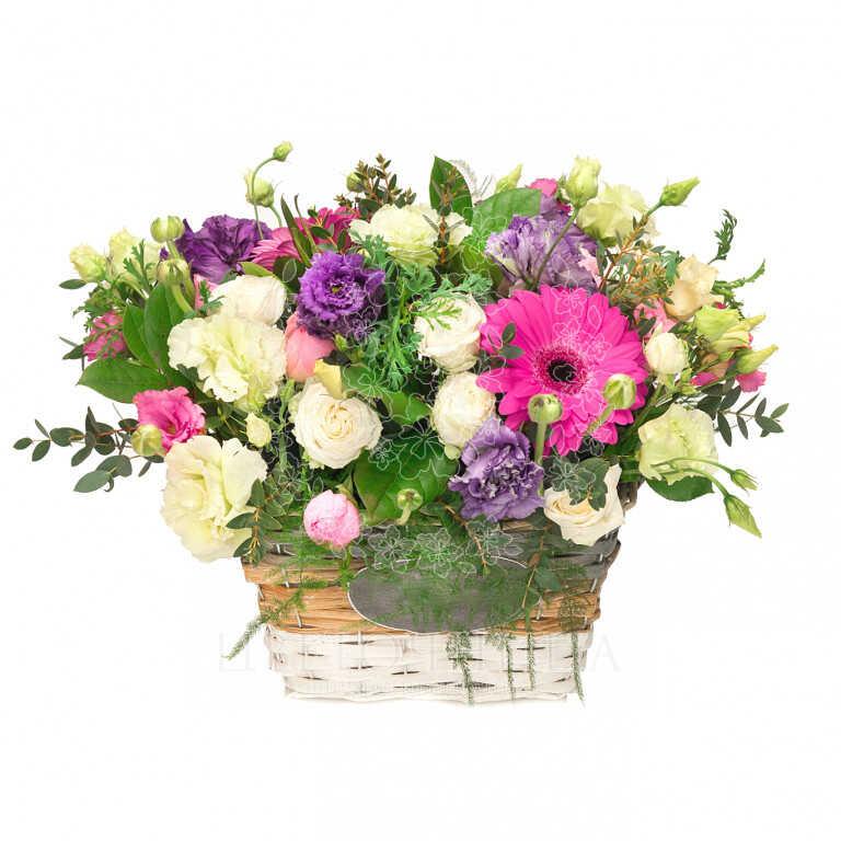 Заказать Корзина «Цветочное письмо»