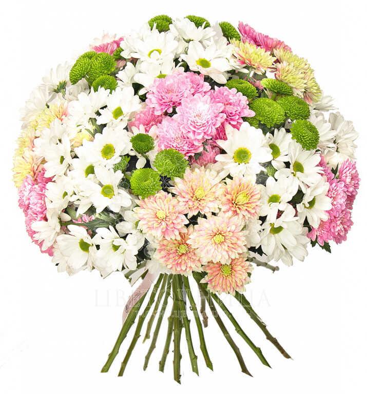 Заказать Букет «Облако хризантем»
