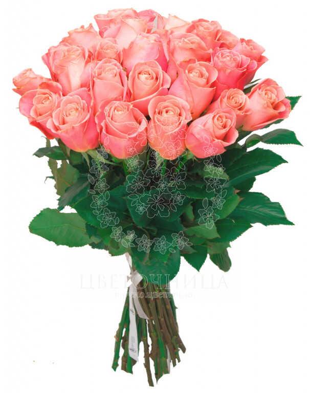 Заказать Букет «Свежие розовые розы»