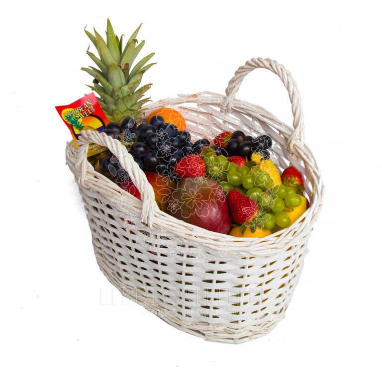 Заказать Корзина с продуктами «Фруктовое изобилие»