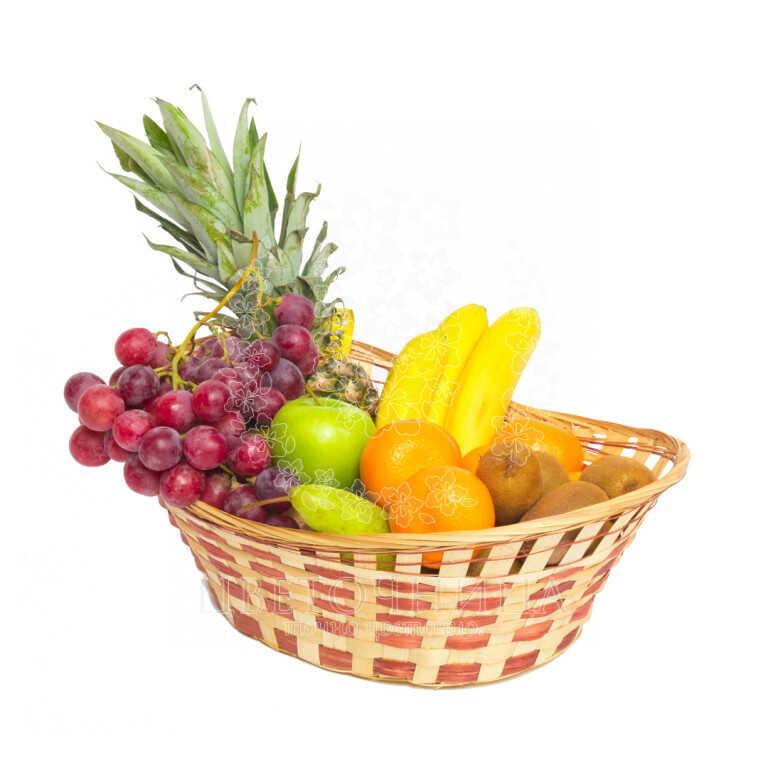 Заказать Корзина с продуктами «Ассорти фруктовое»